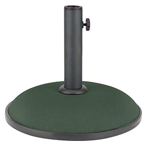 Crystals Round Concrete Parasol Base for Garden Patio Umbrella Sunshade Holder Stand Bird Feeding Station - Shoppersbase