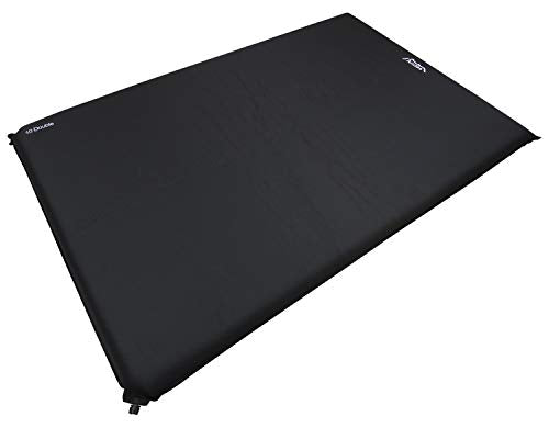 Andes Explora Black 10cm Double Self Inflating Camping Mat Mattress Camp Bed - Shoppersbase