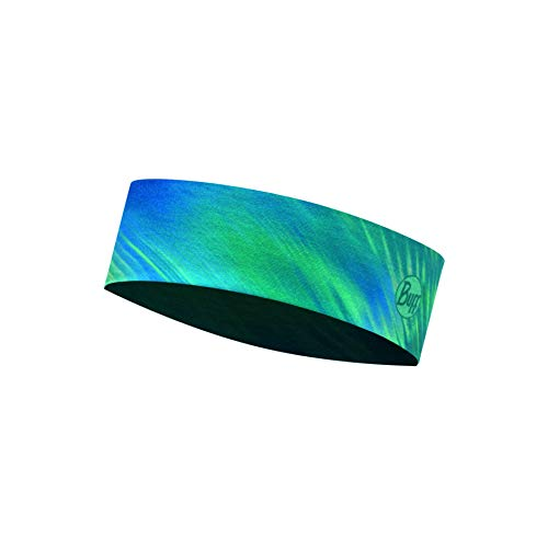 Buff Women's Shining Coolnet Uv+ Slim Headband, Turquoise, One Size - Shoppersbase