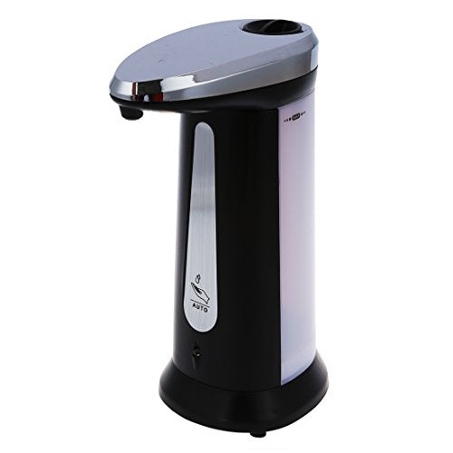 Globalflashdeal Automatic Sensor Soap & Sanitizer Dispenser Touch-free Kitchen Bathroom Grey - Shoppersbase