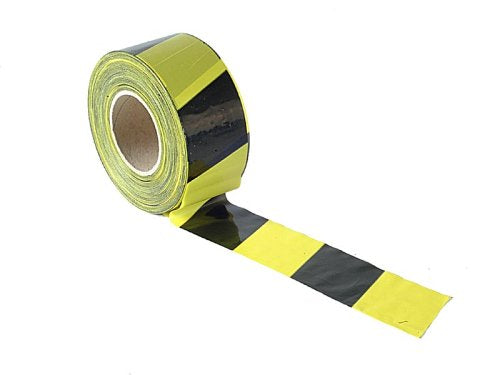 Faithfull Barrier Tape 70MM X 500M Black/Yellow - Shoppersbase