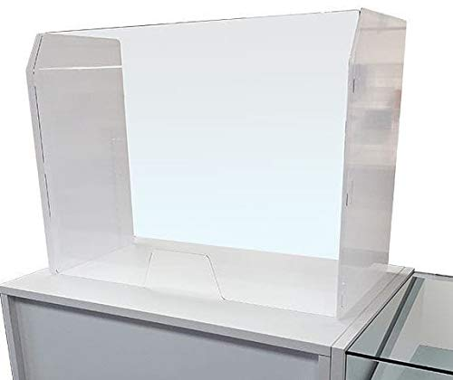 Acrylic Glass Sneeze Guard for Counters 100x35x70h cm - Shoppersbase