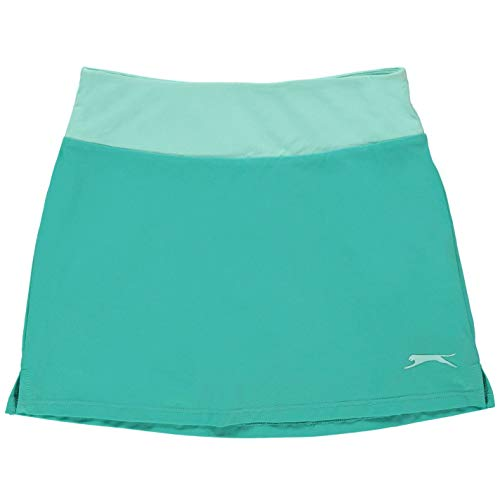 Slazenger Kids Girls Court Skort Junior Performance Lightweight Mesh Stretch Aqua 11-12 (LG) - Shoppersbase