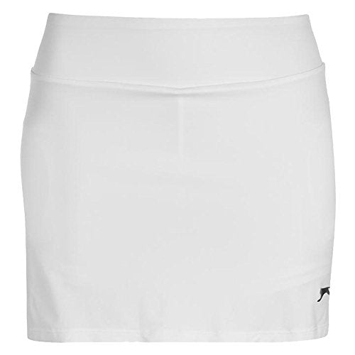 Ladies Stylish Tennis Clothing Court Stretchy Skort (White, 16(XL)) - Shoppersbase