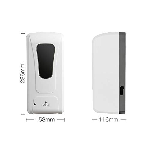 liuxiao 1000ml Automatic Soap Dispenser Infrared Induction Smart Liquid Soap Dispenser Wall Mounted For Kitchen Bathroom A - Shoppersbase