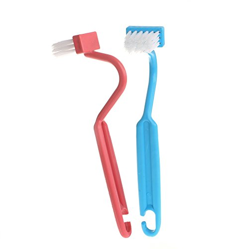 Lunji 2 Pieces Plastic Toilet Brushes with Bend Handle, Random Color - Shoppersbase