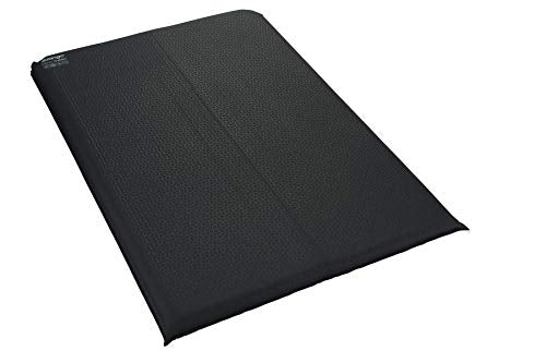 Vango Comfort 10cm Double Sleeping Mat Black - Shoppersbase