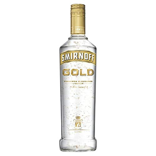 Smirnoff Gold Cinnamon Flavoured Liqueur with Gold leaf 37.5% 70cl - Shoppersbase