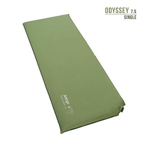 Vango Odyssey 7.5 Single Self Inflating Sleep Mat, Epsom Green - Shoppersbase