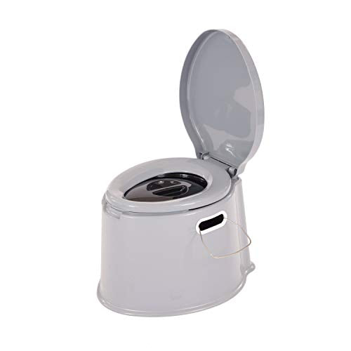 Oypla 5L Portable Compact Camping Toilet Potty with Removable Bucket - Shoppersbase