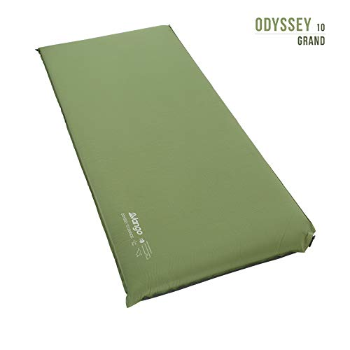 Vango Odyssey 10 Grande Self Inflating Sleep Mat, Epsom Green, 10 cm - Shoppersbase