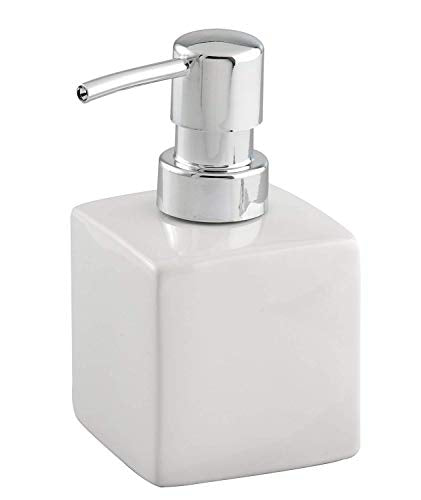 Wenko 17845100 Ceramic Soap Dispenser Square white - Shoppersbase