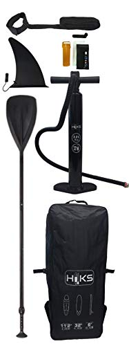 "HIKS Paddle Board Tribal 11'2"" Inflatable SUP Set for all Abilities Ideal for Beginners Includes Paddle, Pump, Backpack, Leash. Paddleboard Kit - Shoppersbase"
