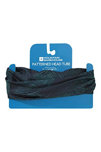 Mountain Warehouse Patterned Head Tube - Quick Dry, Wind Resistant, One Size Fits All Blue - Shoppersbase