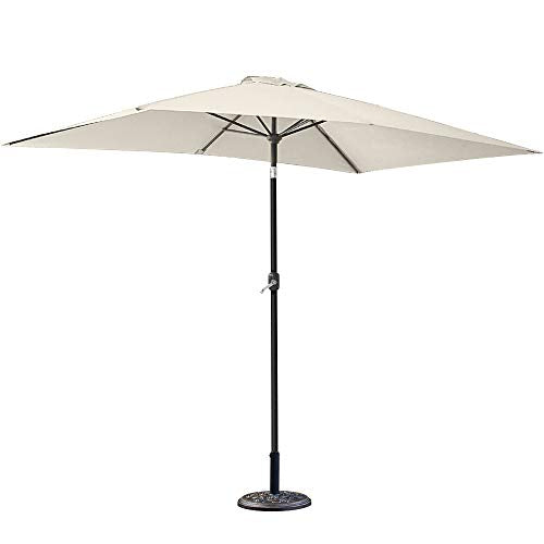 Greenbay 12kg Cement Concrete Round Parasol Base Umbrella Stand Weights Garden Outdoor Accessories Rose Pattern Cast Iron Effect - Shoppersbase