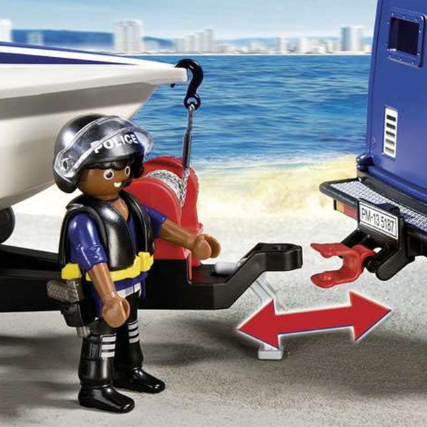 Action figure City Action Police Playmobil 5187