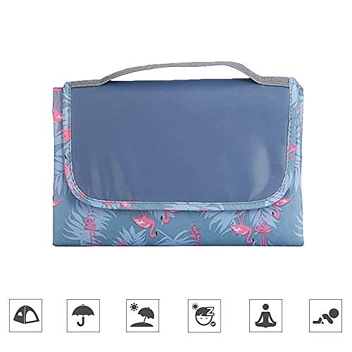 Joy-Fun Picnic Blanket Picnic Rug Waterproof Backing Pink Flamingo Lightweight Folding Washable 150 x 150 cm Garden Beach Camping Travel Outdoor Event Picnic Mat Birthday Gifts for Family JF-GWB - Shoppersbase