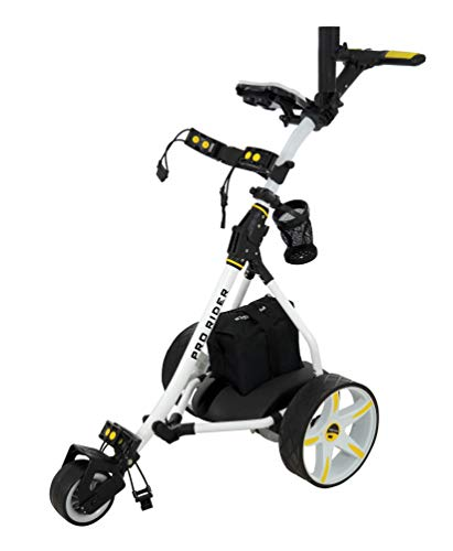 Rider Electric Golf Trolley (White & Yellow) - Shoppersbase