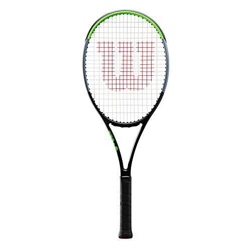Wilson Tennis Racquet, Blade 101L V7.0, Unisex, Grip: 4 3/8 Inch, Graphite, Green/Grey/Lime Green WR014110U3 - Shoppersbase