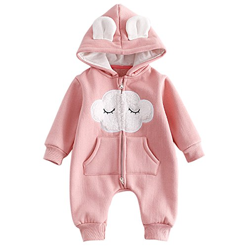 Bebone Baby Clothes Girls Boys Jumpsuit Kids Outwear (6-9 Months, Pink) - Shoppersbase