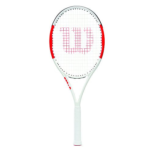Wilson Tennis Racket, Six.One Lite 102, Unisex, Intermediate Players, Grip Size L1, Red/Grey, WRT73660U1 - Shoppersbase