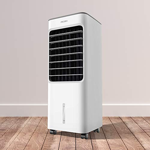 PRODEX PX5706W Portable Evaporative Air Cooler with Air Humidifying & Fan Function, 3 Speed Levels with Oscillation, 5 Litre Water Tank - White - Shoppersbase