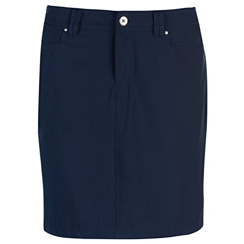 Slazenger Womens Golf Skort Zip Mesh Standard Fit Navy (M) 12 - Shoppersbase