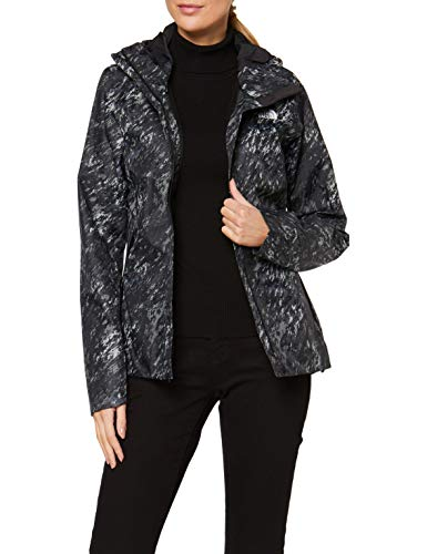 THE NORTH FACE Women's W Quest Print Jacket Shell, TNF Black Textu, M - Shoppersbase