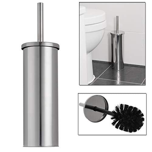 LIVIVO Stainless Steel Bathroom Toilet Brush Bristle And Holder - Ideal For Keeping Your Bath Toilet Neat And Clean Germ Free Hygienic - Premium Quality Long Lasting - Shoppersbase