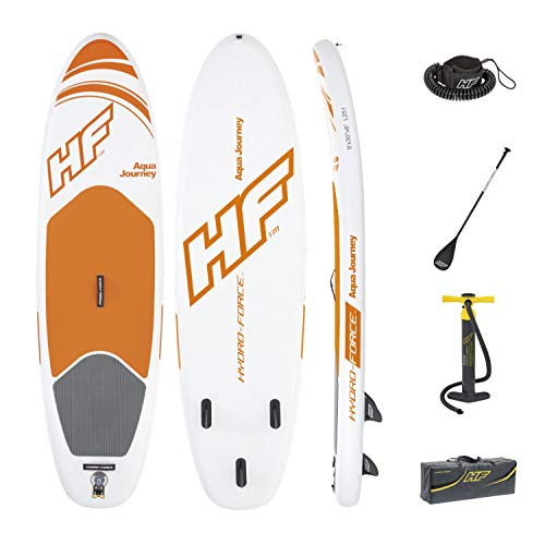 Bestway Hydro-Force Aqua Journey Inflatable SUP Stand Up Paddle Board with Paddle, Carry Bag and Pump (2019 Model) - Shoppersbase