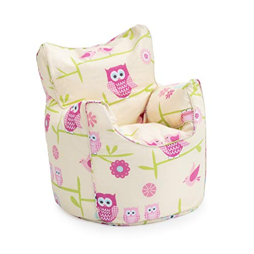 Ready Steady Bed Children's Bean Bag Chair Owls Design Ready Filled - Shoppersbase