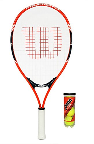 "Wilson Federer Junior Tennis Racket + 3 Tennis Balls (19"") - Shoppersbase"