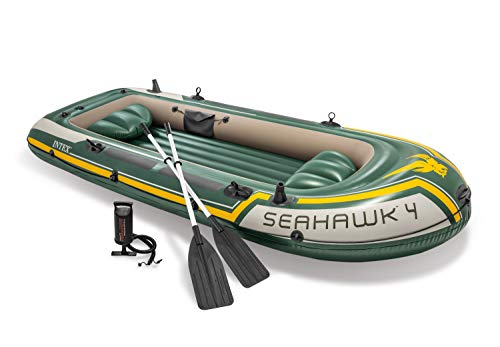 Intex Seahawk 4 Boat Set - four man inflatable dinghy with oars and pump #68351 - Shoppersbase