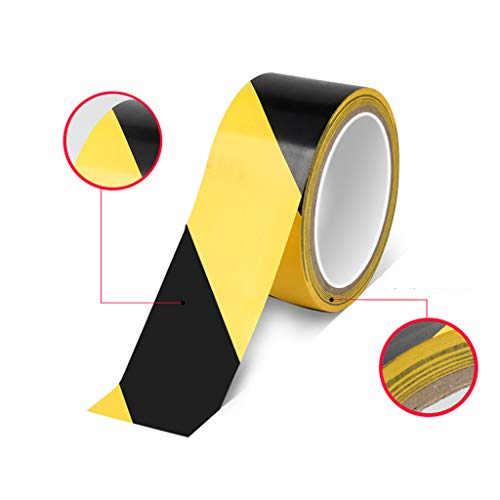 Inawayls Safety Tape for Floors Premium Hazard Warning Tape - 2 Inch x 36 Yards- Adhesive Marking Barrier Tape Roll Use as Lane & Line Marking Tape (1 Roll, yellow black) - Shoppersbase