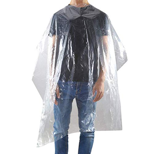 50/100Pcs Hairdressing Cape, Waterproof, Hairdressing Apron Disposable, Transparent Salon Hair Cutting Gown Barber Cape Cloth, Adult Salon Barbers Hairdresser Hair Cutting Cape Gown Salon Cape (50x) - Shoppersbase