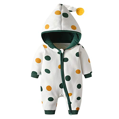 Bebone Baby Clothes Newborn Outfits Boys Girls Jumpsuit (Green, 3-6 Months) - Shoppersbase
