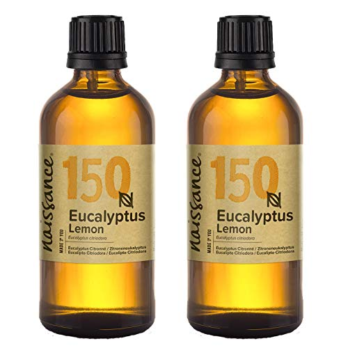Naissance Lemon Eucalyptus Essential Oil 200ml (2x100ml) - 100% Pure, Natural, Cruelty Free, Steam Distilled and Undiluted (Eucalyptus Citriodora/Citriodorol) - Shoppersbase