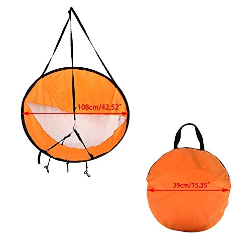 "AZX Large 42"" Kayak Wind Sail Paddle Portable Canoes Popup Downwind Sail Kit Kayak Accessories For Inflatable Boats Kayaks Canoes (Orange) - Shoppersbase"