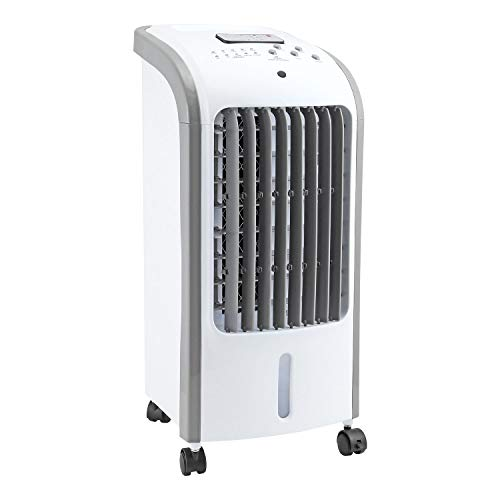 Taylor & Brown® 80W Portable Evaporative Air Cooler with Remote Control, 3 Fan Speeds, 7.5 Hour Timer and 4 Litre Water Tank for Home or Office Use - Shoppersbase