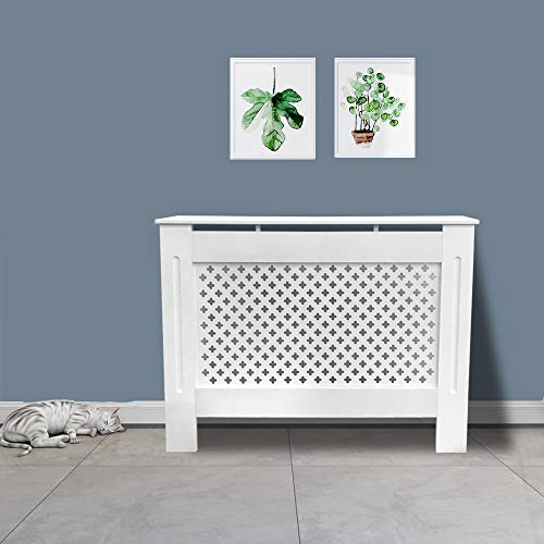 Greenbay Painted Radiator Cover Radiator Cabinet Modern Style, White MDF, Medium 1120 x 815 x 190(mm) - Shoppersbase