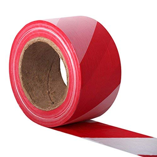 The Chemical Hut Red and White Hazard Warning Barrier Tape. 500 metres - Shoppersbase