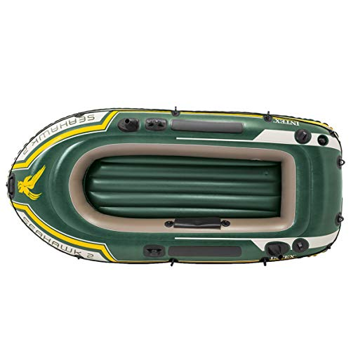 Intex Seahawk Inflatable Boat Set, 2-Person Boat Set with Oars + Inflator - Shoppersbase