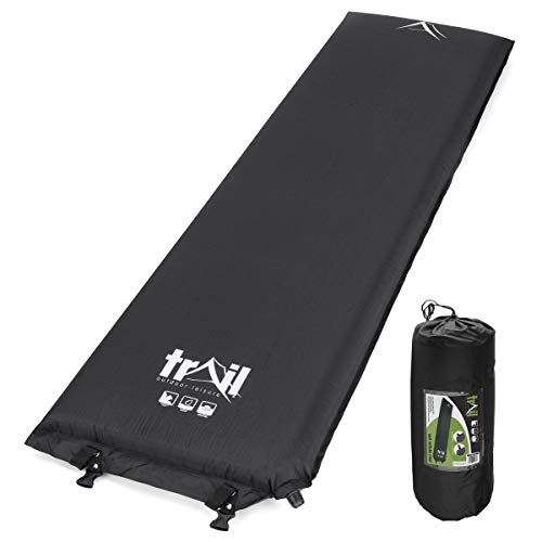 trail outdoor leisure Single Inflatable Camping Mat, Self-Inflating, 10cm Thick Memory Foam, Lightweight Sleeping Mattress, Carry Bag - Shoppersbase