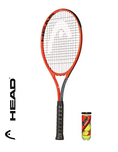 HEAD Radical 27 Adult Tennis Racket + 3 Tennis Balls (All Grip Size Options) (Grip Size L4: 4 1/2 inch) - Shoppersbase