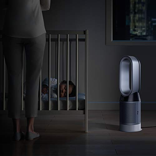 Dyson Purifier, Fan-HEPA Air Filter, Space Heater and Certified Asthma + Allergy Friendly, WiFi-Enabled-HP04, White/Silver - Shoppersbase
