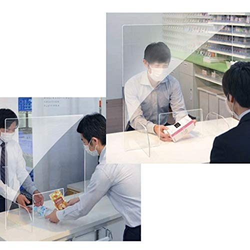 Protection Screen for Counters,Pharmacy Protection,Grocery Store Counter Panel,Workers Customers Protection Window,Reception Screen,Desk Partition,Transparent Divider,Counter Sneeze Screens (B) - Shoppersbase