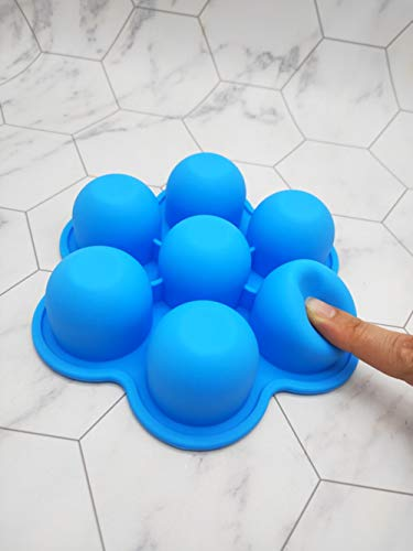 YNOUU Silicone Ice Lolly Moulds Ice Lolly Maker Egg Bites Mold Reusable DIY Frozen Ice Cream Pop Molds for Kids (Bule)
