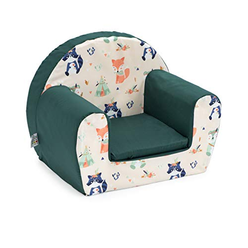 Ready Steady Bed Children Mini Armchair | Kids Sofa Seat Chair | Great for Playroom Kids Room Living Room | Lightweight and Durable (Forest Friends) - Shoppersbase