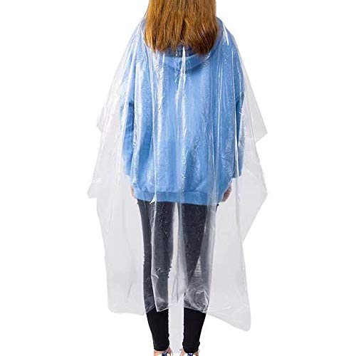 "VAINECHAY 50pcs Disposable Hair Cutting Apron Hair Salon Cape Protective Coveralls Gowns Waterproof Protection Capes Transparent Cloth 35.4"" x 51"" - Shoppersbase"