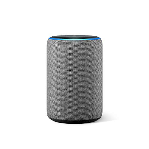 Amazon Echo (3rd generation) | Smart speaker with Alexa, Heather Grey Fabric - Shoppersbase